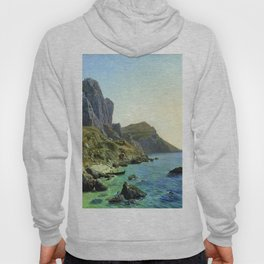 On The Island Of Capri Coastal Cliffs 1859 By Lev Lagorio | Reproduction | Russian Romanticism Paint Hoody
