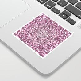 Wine Maroon Ethnic Detailed Textured Mandala Sticker