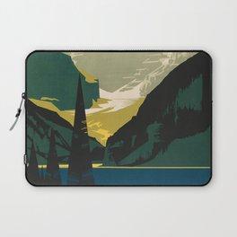 Lovely Lake Louise vintage travel ad Laptop Sleeve