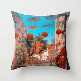 China Town CDMX Throw Pillow