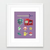 video games Framed Art Prints featuring video games by Black