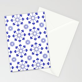 blue morrocan dream no2 Stationery Cards
