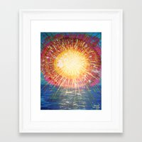 kindle Framed Art Prints featuring :: OneSun :: by :: GaleStorm Artworks ::
