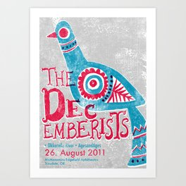 The Decemberists Gigposter Art Print