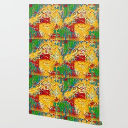 6759s-KMA The Woman in the Stained Glass Sensual Feminine Energy Emerging Wallpaper
