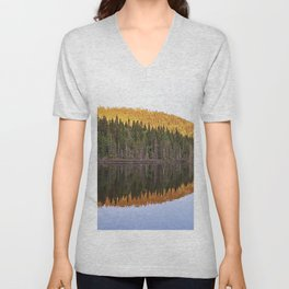 Fall Forest Reflected Unisex V-Neck