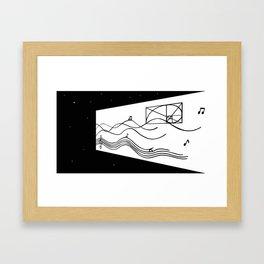 cosmic sounds Framed Art Print