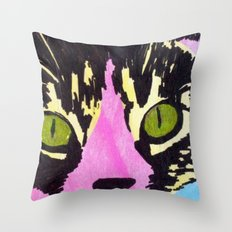 Pop Art Cat No. 1 Throw Pillow