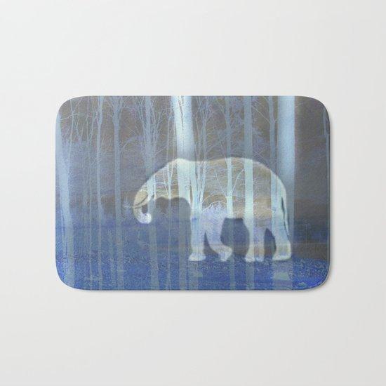 Moonlight with elephant Bath Mat