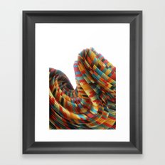 Twisted Lines Framed Art Print