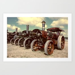 Filtered Steam Art Print