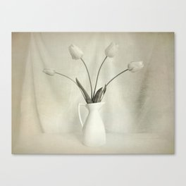 Simple Tulips in Pitcher Modern Country Modern Cottage Art A115 Canvas Print
