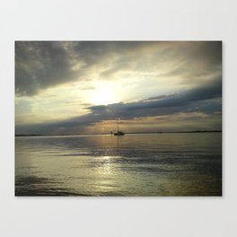 The Lonely Ship Canvas Print