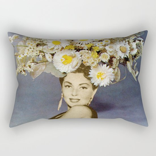 Floral Fashions Rectangular Pillow