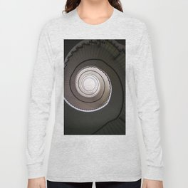 Spiral staircase in brown and beige tones Long Sleeve T-shirt