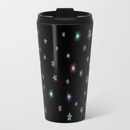 Colored Sparkling Stars Travel Mug