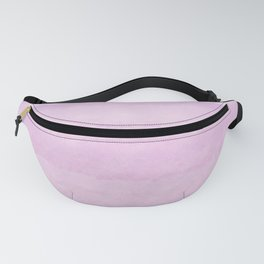 Pastel pink lilac ivory ombre watercolor Fanny Pack