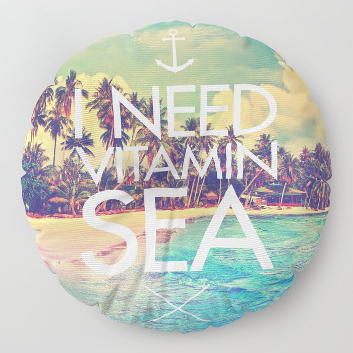 I Need Vitamin Sea Floor Pillow