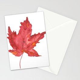 Fall Maple Leaf Stationery Cards
