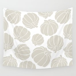 Pumpkin Spice in Neutral Beige and White Wall Tapestry