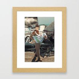 The Rescuer. Framed Art Print