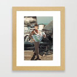 The Rescuer. Framed Art Print