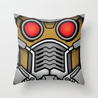 star lord Throw Pillows featuring Star Lord by Ryan the Foe