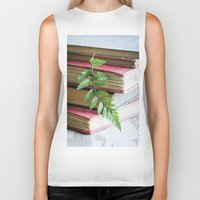 study Biker Tanks featuring Botany Study by Colleen Farrell