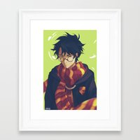 viria Framed Art Prints featuring the boy who lived by viria