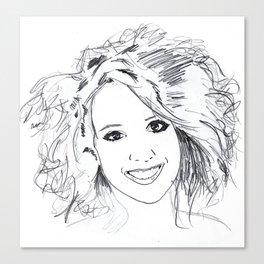 The Beautiful Anke Buckinx Canvas Print