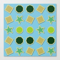 stickers Canvas Prints featuring Shapes stickers by laly_sb