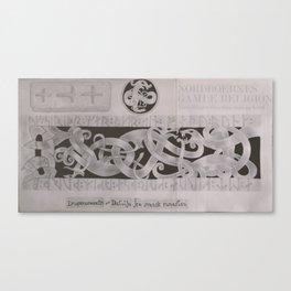 Drageornamenrtik - Detalje fra Svensk Runesten Canvas Print