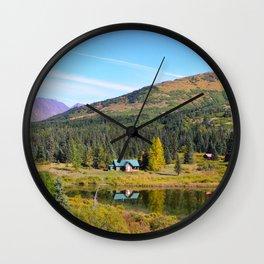 Lake Retreat - Alaska Wall Clock