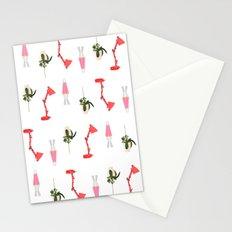 Retro Office Station Pattern Stationery Cards