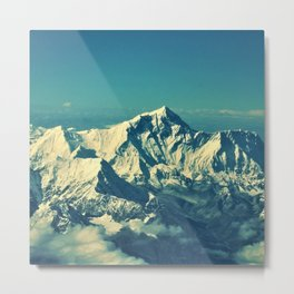 Mount Everest and surrounding mountain range Metal Print