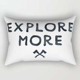 Explore More Quote Black and White Rectangular Pillow