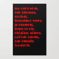 outkast Canvas Prints featuring Top 10 by Lyrical Threads