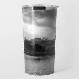 Scottish Highlands Ben Nevis from Caledonian Canal B & W Travel Mug