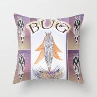 bug Throw Pillows featuring BUG by CrismanArt