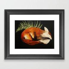 Fox Folk Framed Art Print