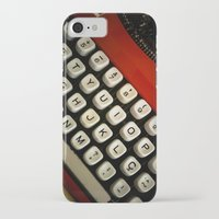 typewriter iPhone & iPod Cases featuring Typewriter by Mauricio Santana