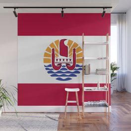French Polynesia flag emblem Wall Mural