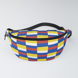 Mix of flag:  Russia and ukraine Fanny Pack