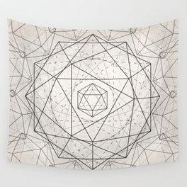 Icosahedron Mandala Wall Tapestry