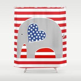 American Elephant 2 Shower Curtain
