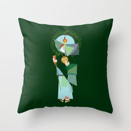 St. Jude Geo-Green Throw Pillow