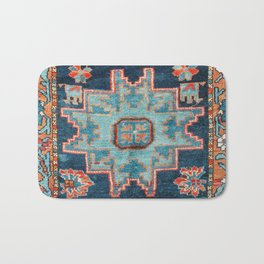 Karabakh  Antique South Caucasus Azerbaijan Rug Print Bath Mat