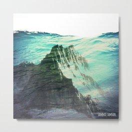 Underwater Mountain Metal Print
