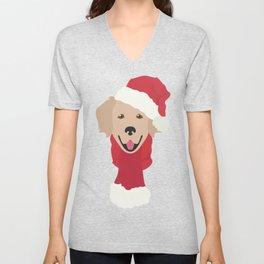 Golden Retriever Christmas Dog Unisex V-Neck