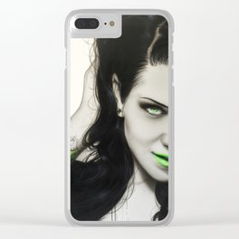 'Rose Of Envy' Clear iPhone Case